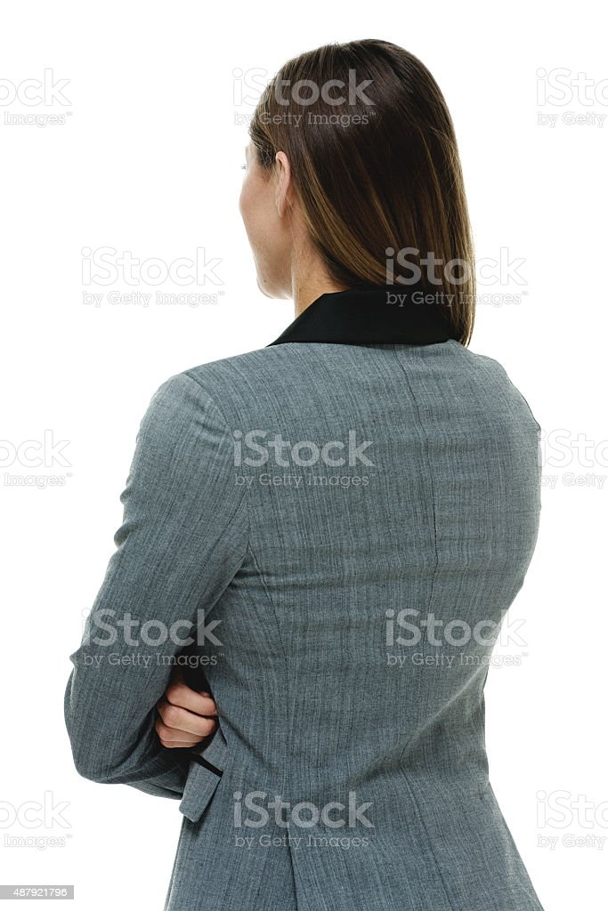 Back view of businesswoman stock photo