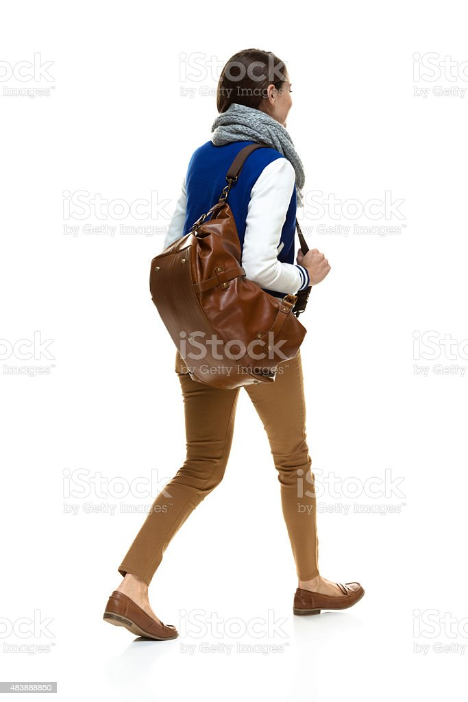 Back view of college student stock photo