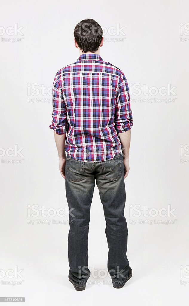 Back View of Guy stock photo
