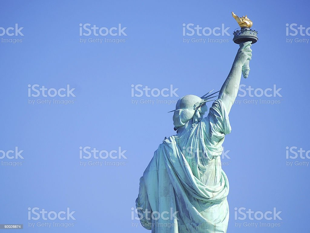 Back view of Liberty stock photo
