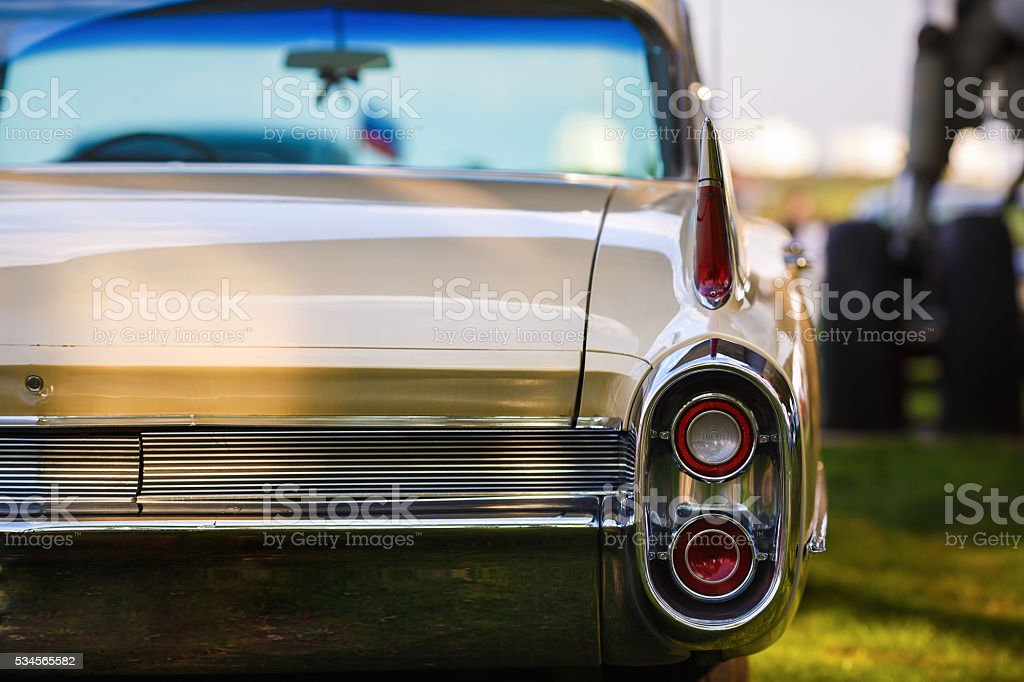 Back view of vintage car stock photo