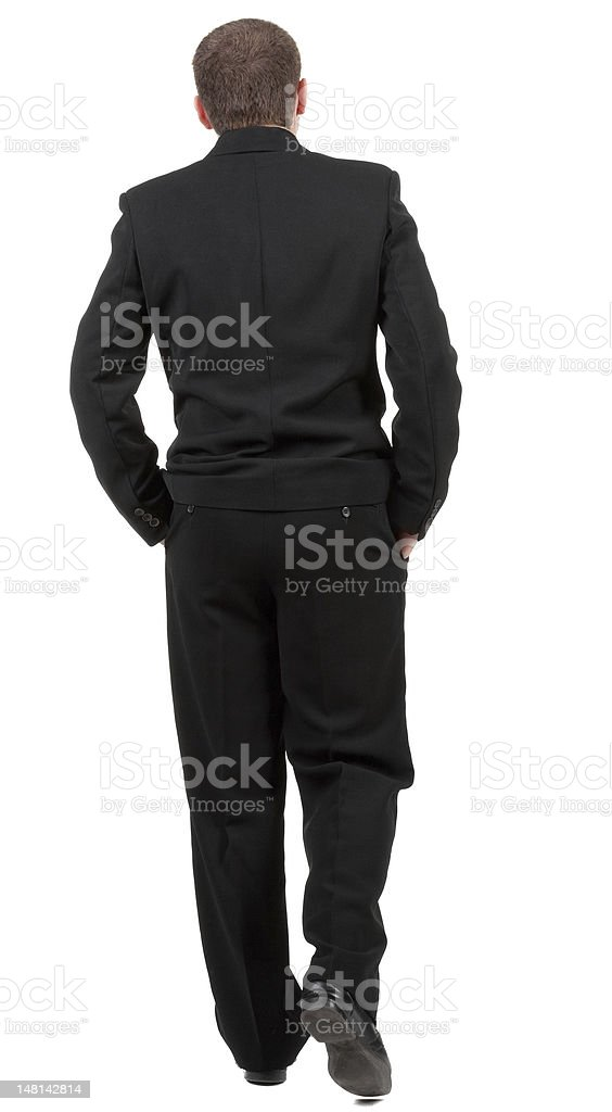 back view of walking business man. royalty-free stock photo