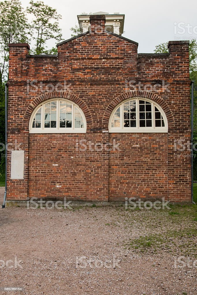 Back Wall of Old Fortress in Harpers Ferry stock photo
