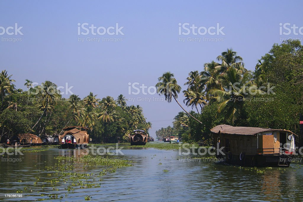 Back Waters of Kerala stock photo