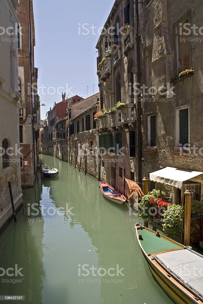 Back Waters of Venice stock photo