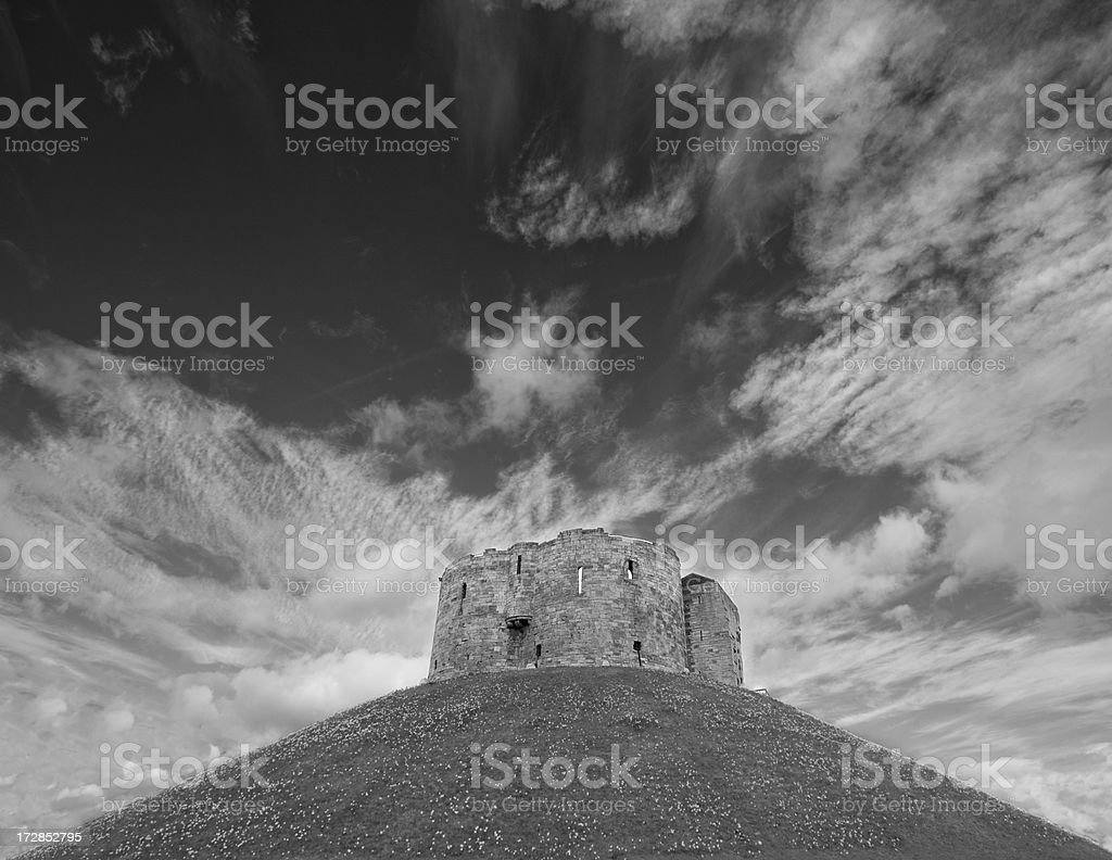 Back & White Shot of Tower in York stock photo
