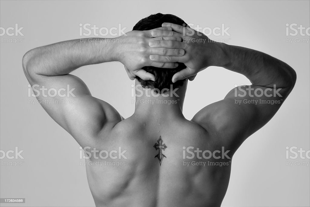 back with tattoo royalty-free stock photo