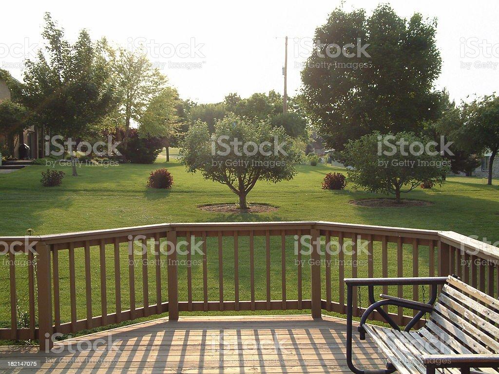Back Yard Deck stock photo