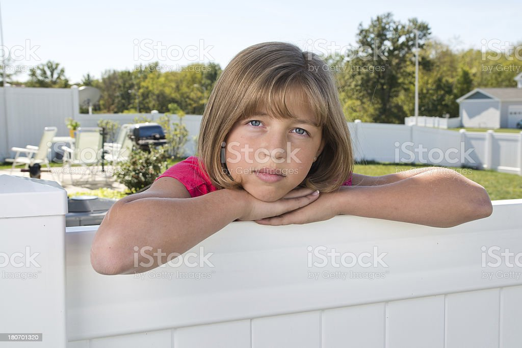 Back Yard Girl royalty-free stock photo