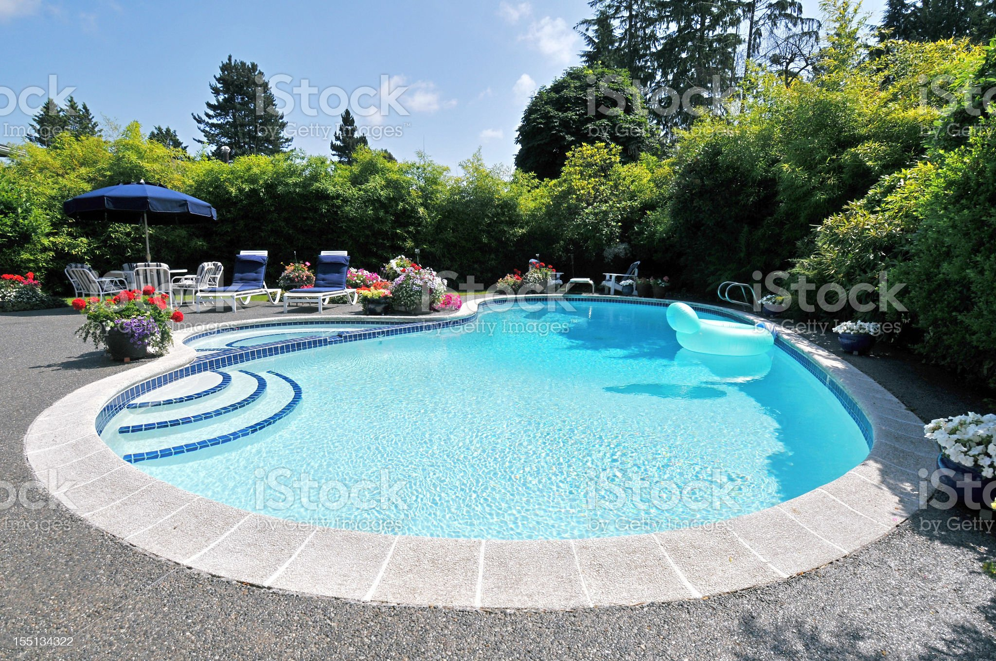 Back Yard Pool royalty-free stock photo
