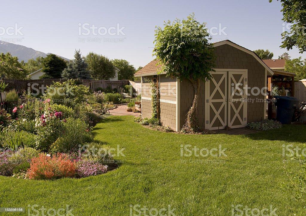 Back Yard Scene stock photo