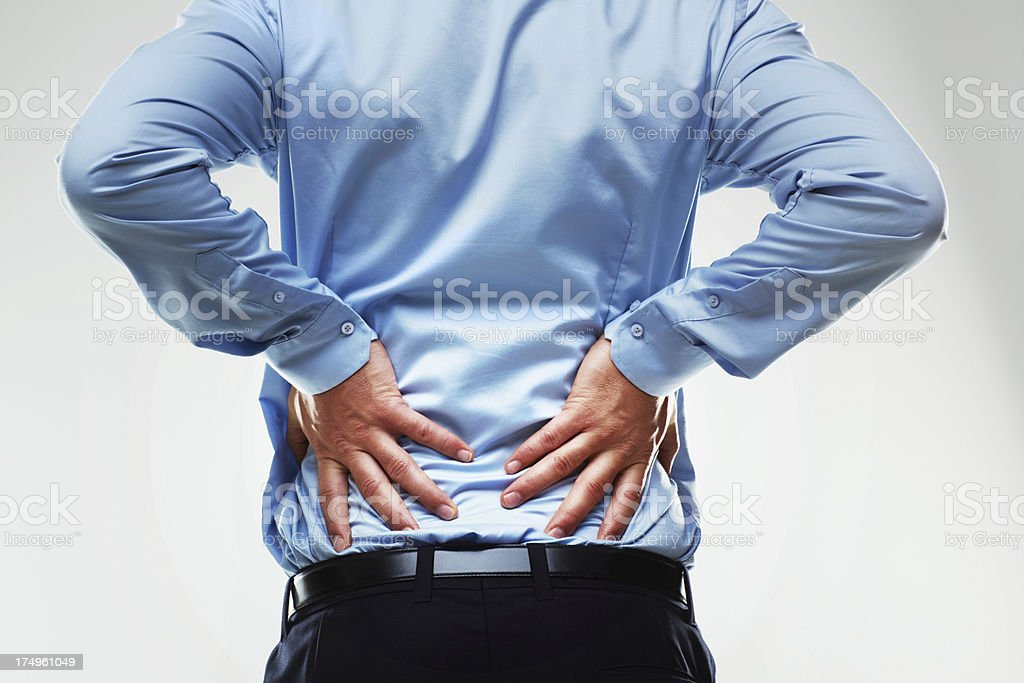 Backache is a serious issue stock photo