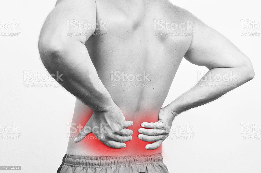 Backache stock photo