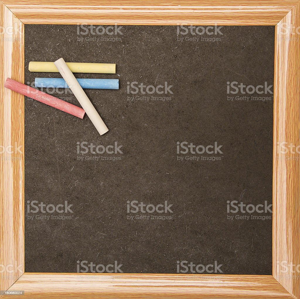 Backboard with chalks royalty-free stock photo