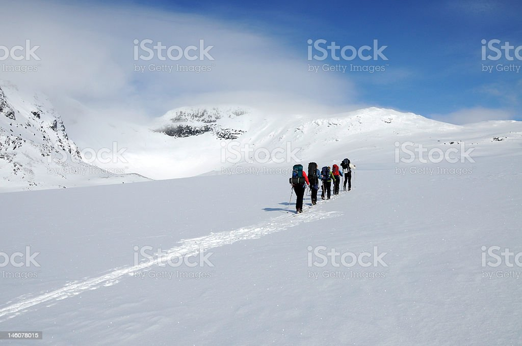 Back-country Ascent stock photo