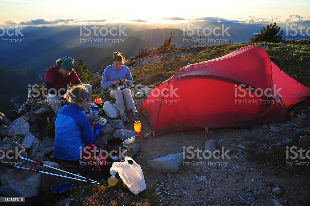 Backcountry camping royalty-free stock photo