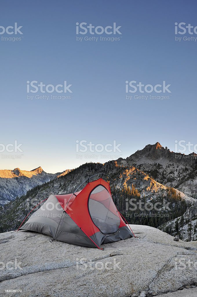 Backcountry camping royalty-free stock photo