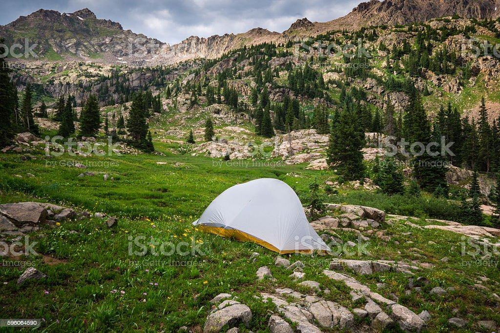 Backcountry Campsite stock photo