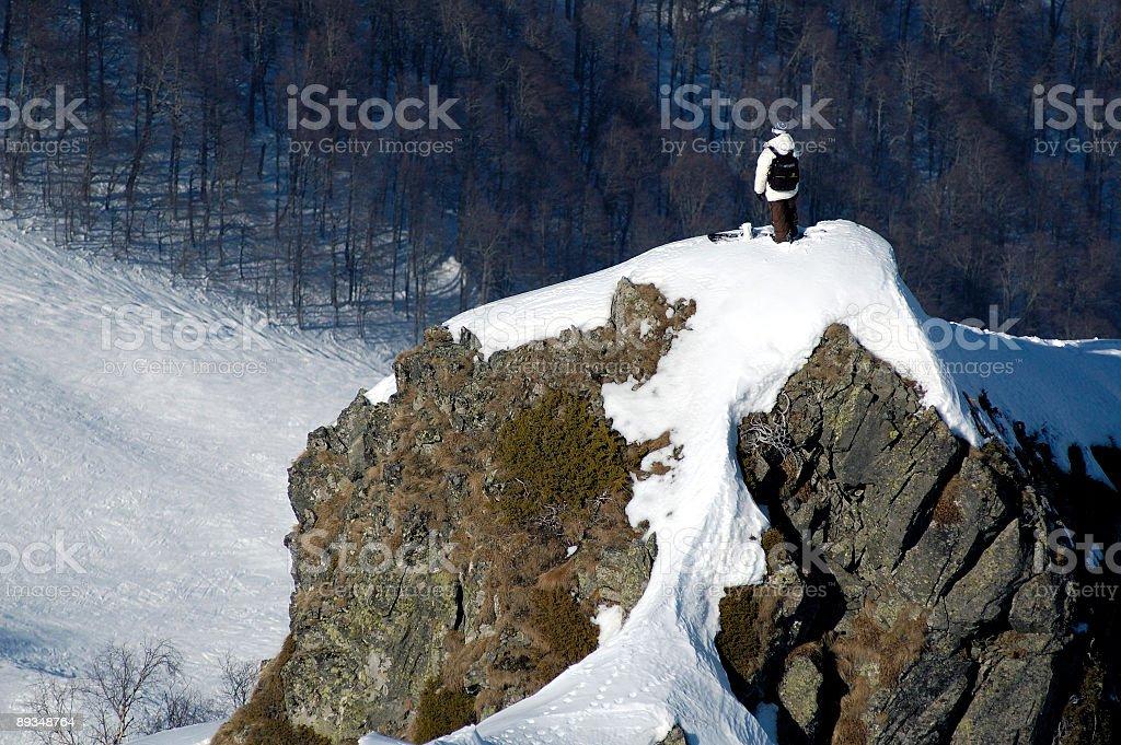 Backcountry freestyle in Krasnaya Polyana royalty-free stock photo