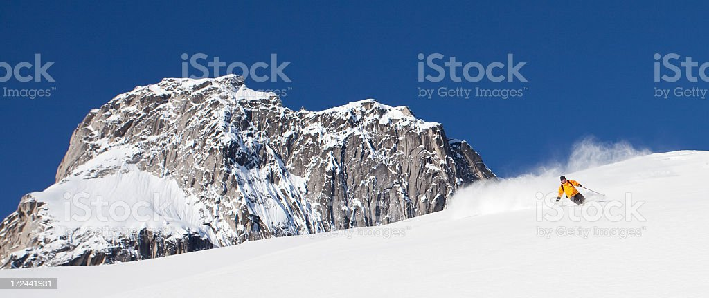 Backcountry Ski Touring in British Columbia stock photo