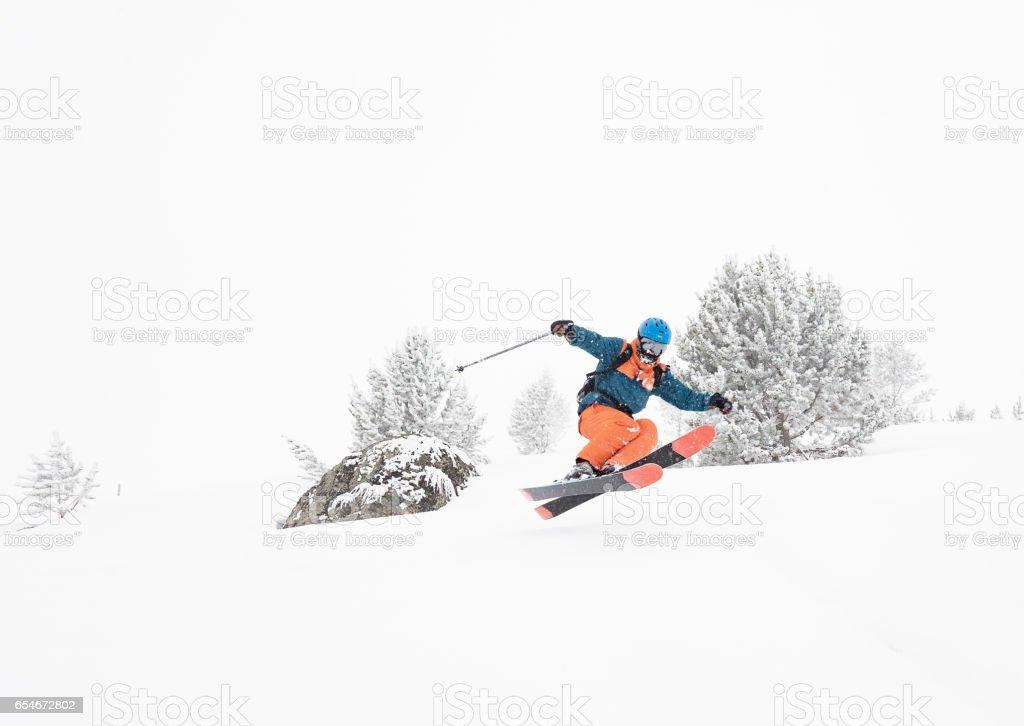 Backcountry skiing stock photo