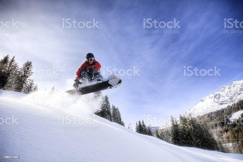 Backcountry Snowboarder stock photo