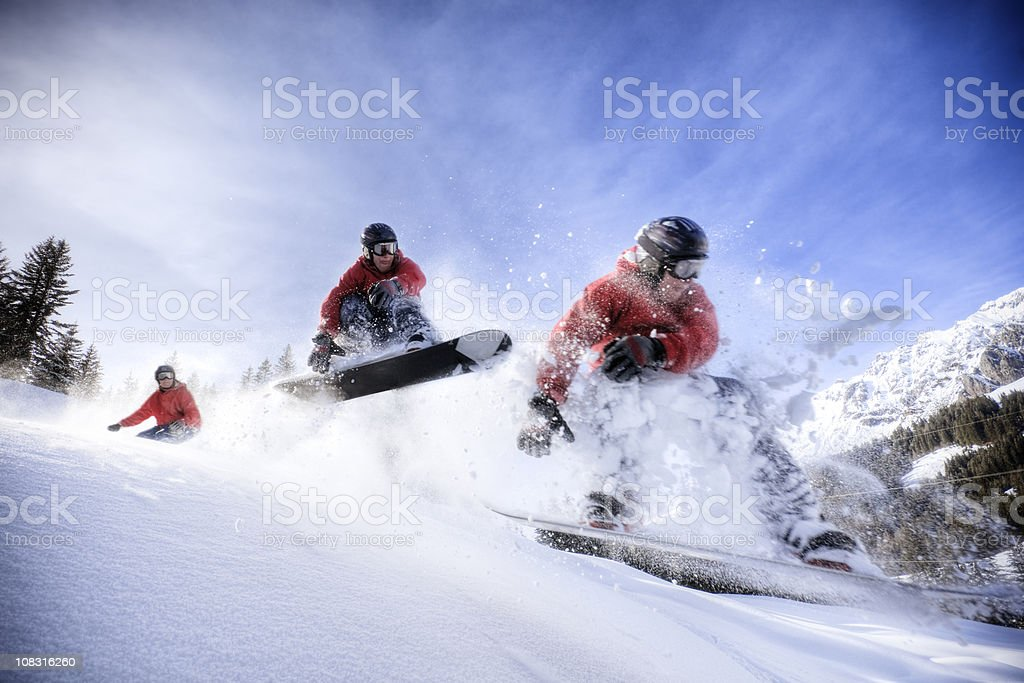 Backcountry Snowboarder stock photo