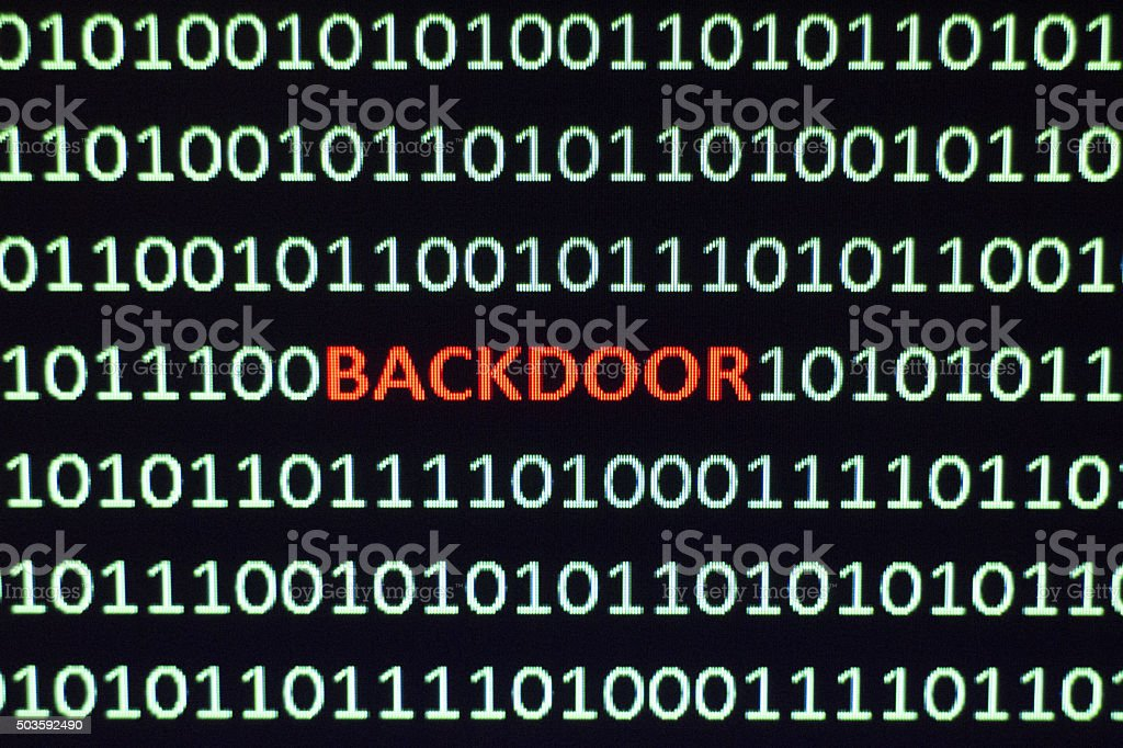 Backdoor Computer Exploit stock photo