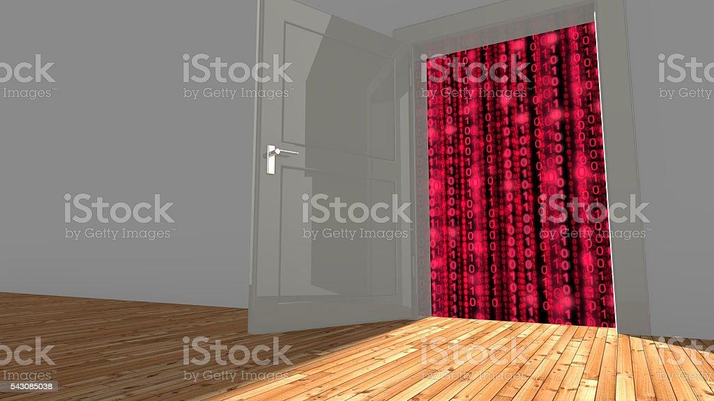 Backdoor to digital datastreams stock photo