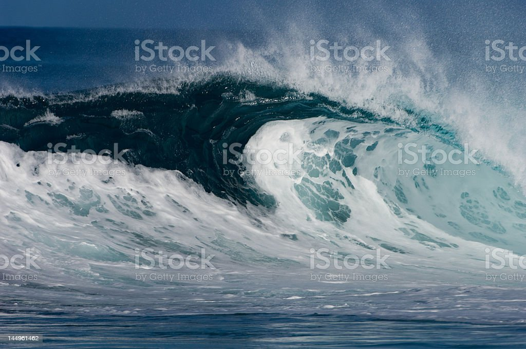 Backdoor Tube Wave in Oahu royalty-free stock photo
