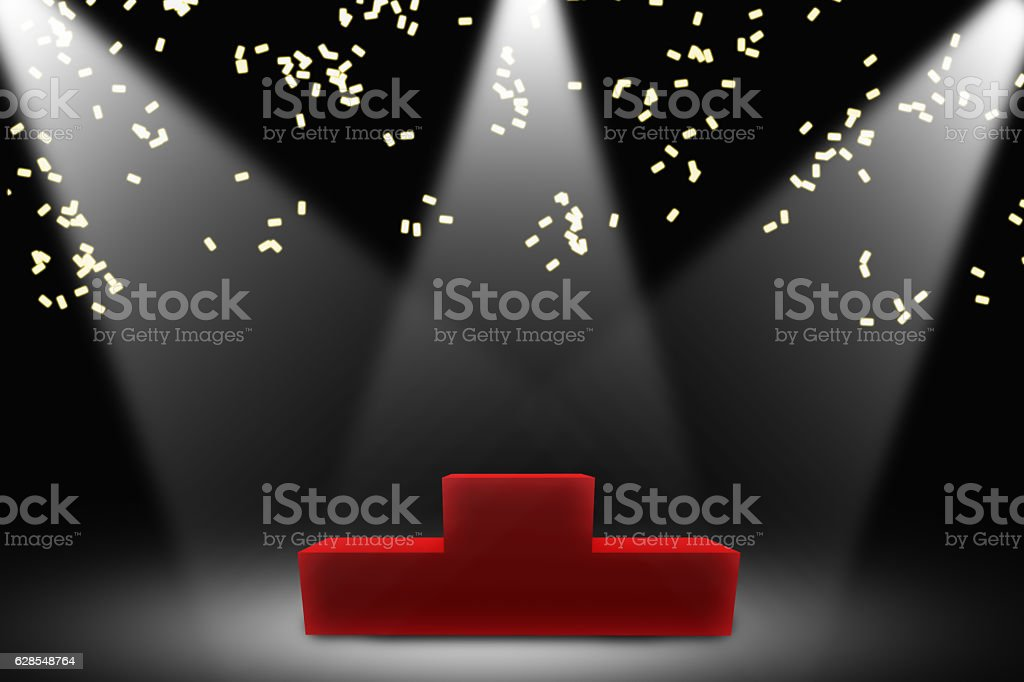 backdrop for victory ceremony stock photo