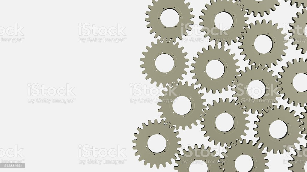 Backdrop with gears and cogwheels stock photo