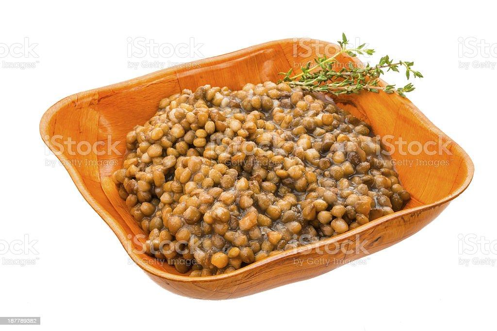 Backed lentils royalty-free stock photo