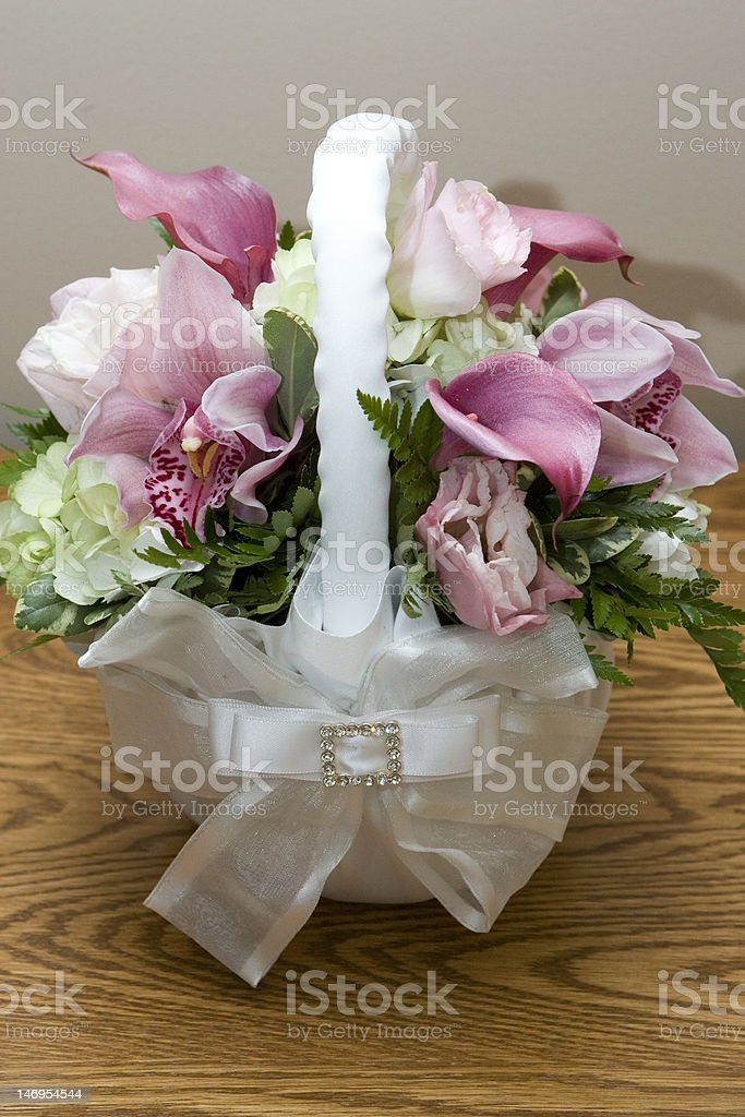 backet of flowers, variation royalty-free stock photo
