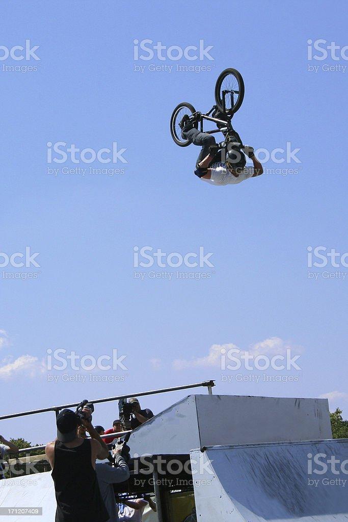 BMX Backflip royalty-free stock photo