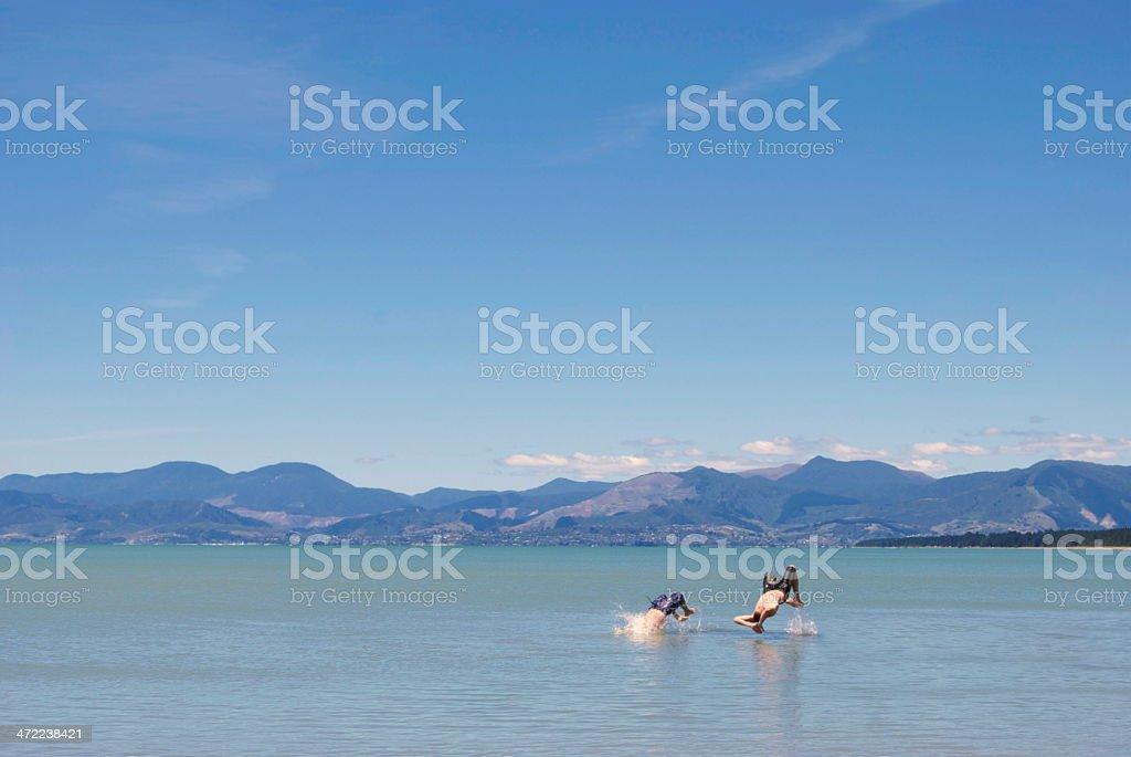 Backflips in the Sea stock photo
