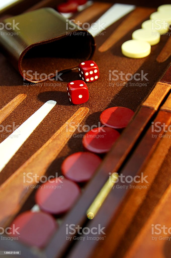 Backgammon 1 royalty-free stock photo