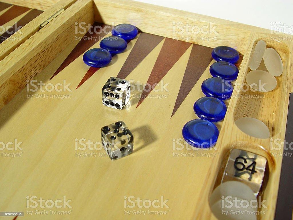 Backgammon Board royalty-free stock photo