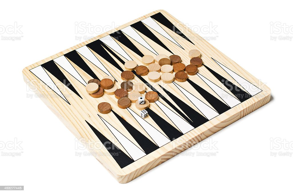 Backgammon game royalty-free stock photo