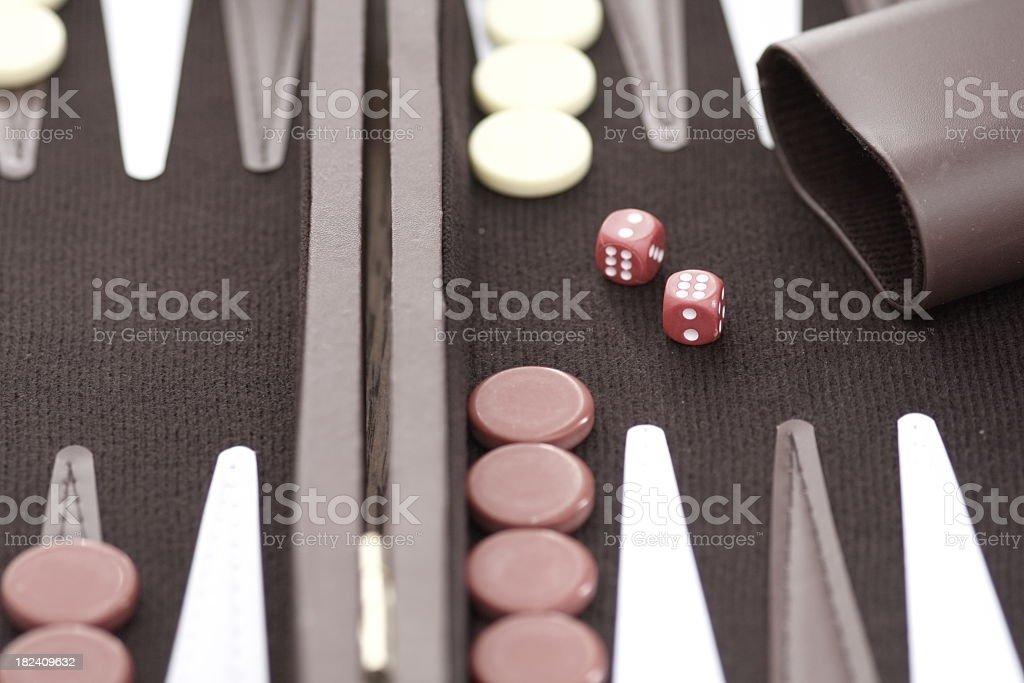 Backgammon royalty-free stock photo