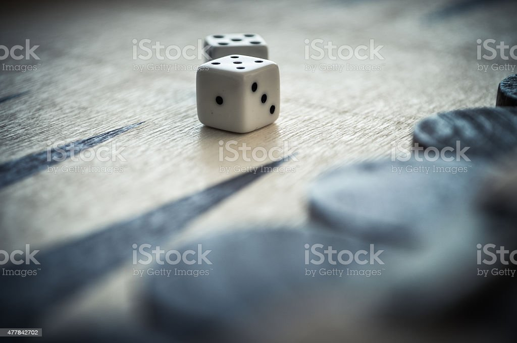 backgamon and dices stock photo