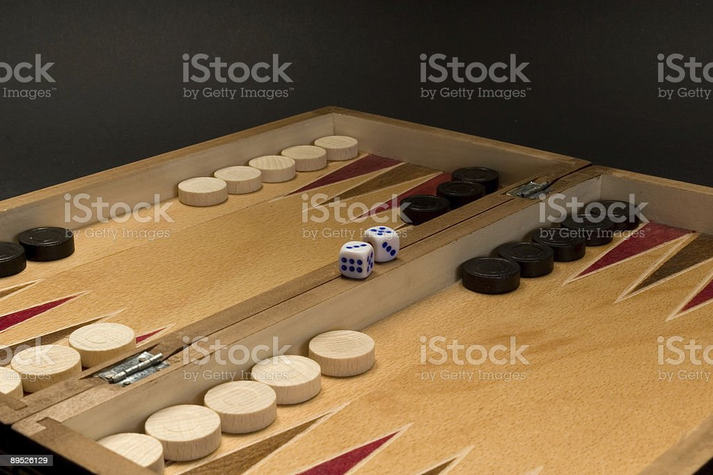Backgamon perspective royalty-free stock photo