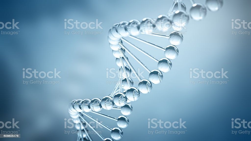DNA Background - 3D illustration stock photo