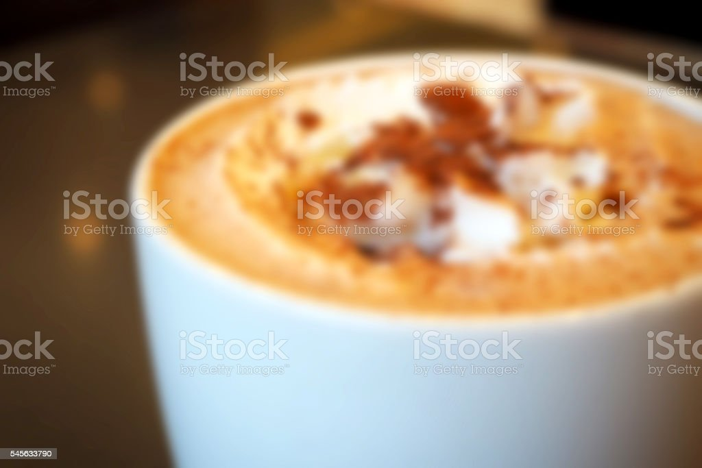 Background abstract blurred of Hot cocoa cream stock photo