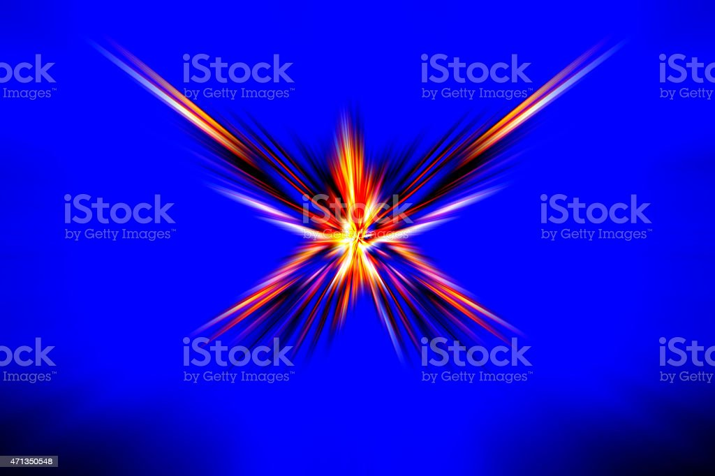 Background. Abstract, zoomed, blur motion. Starburst. Futuristic. Multi-colors. stock photo