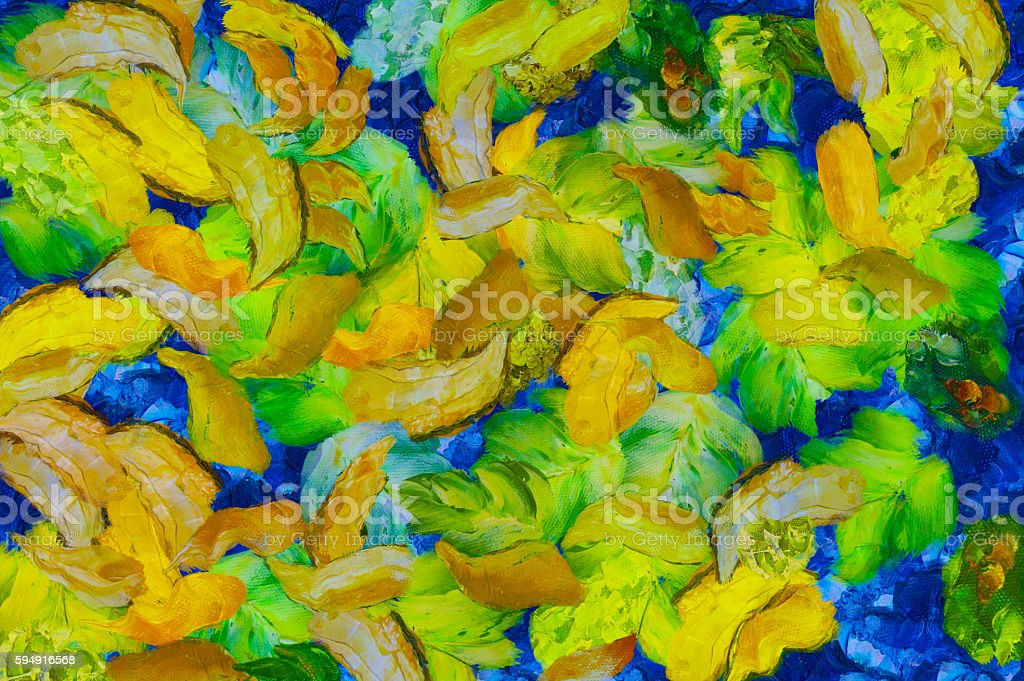 Background and oil painting in the style of the artist royalty-free stock photo