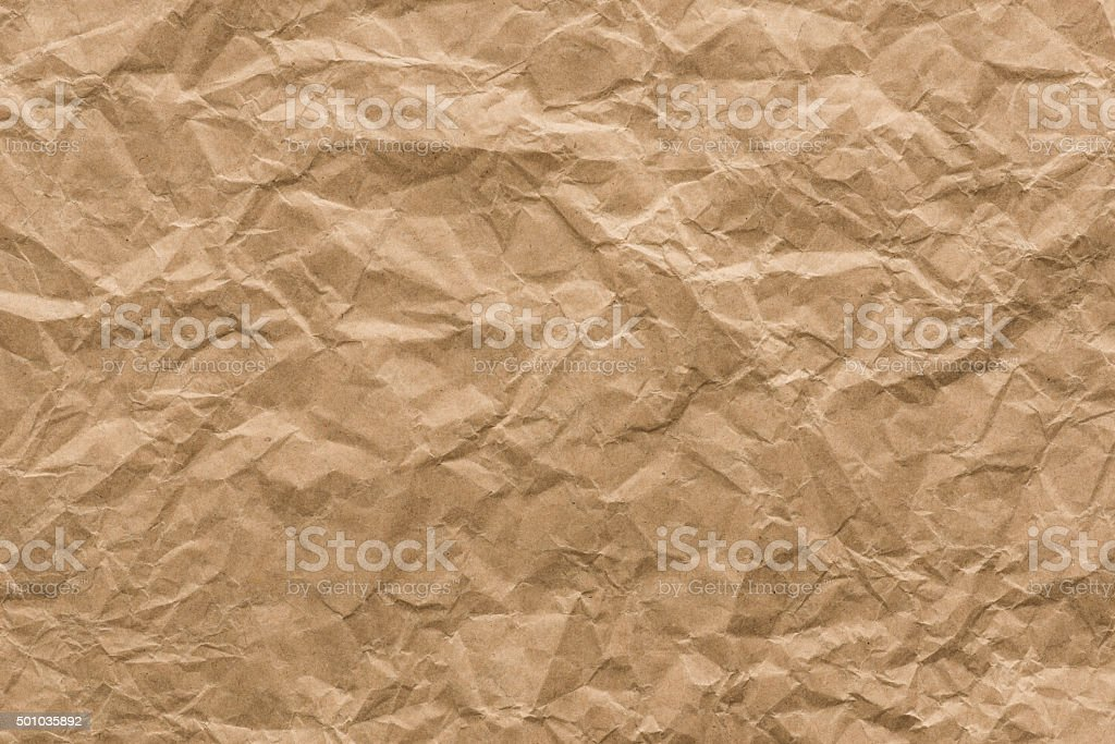 background and texture of brown Wrinkled paper stock photo