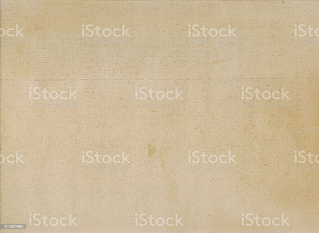 background beige linen canvas primed for oil painting stock photo