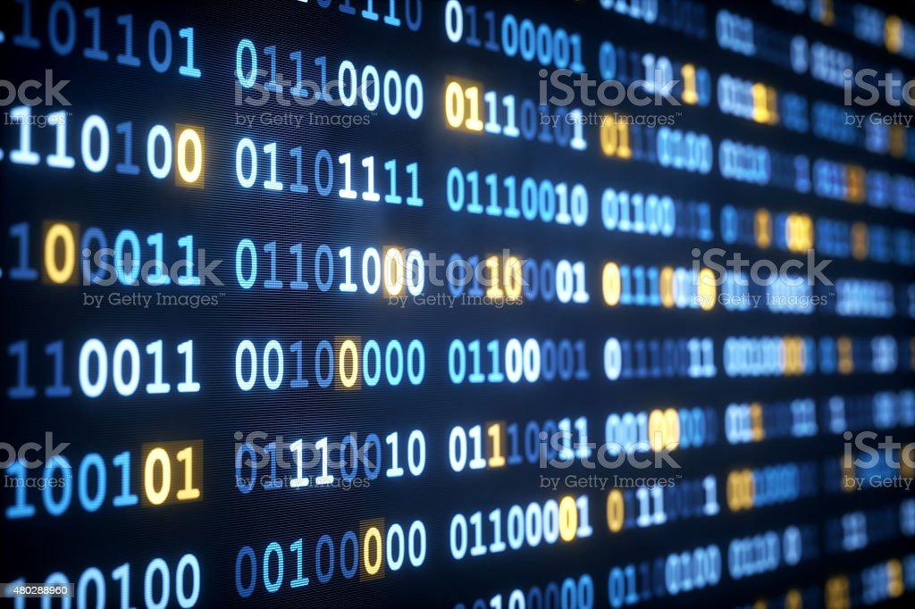 IT Background Binary Code A03 stock photo