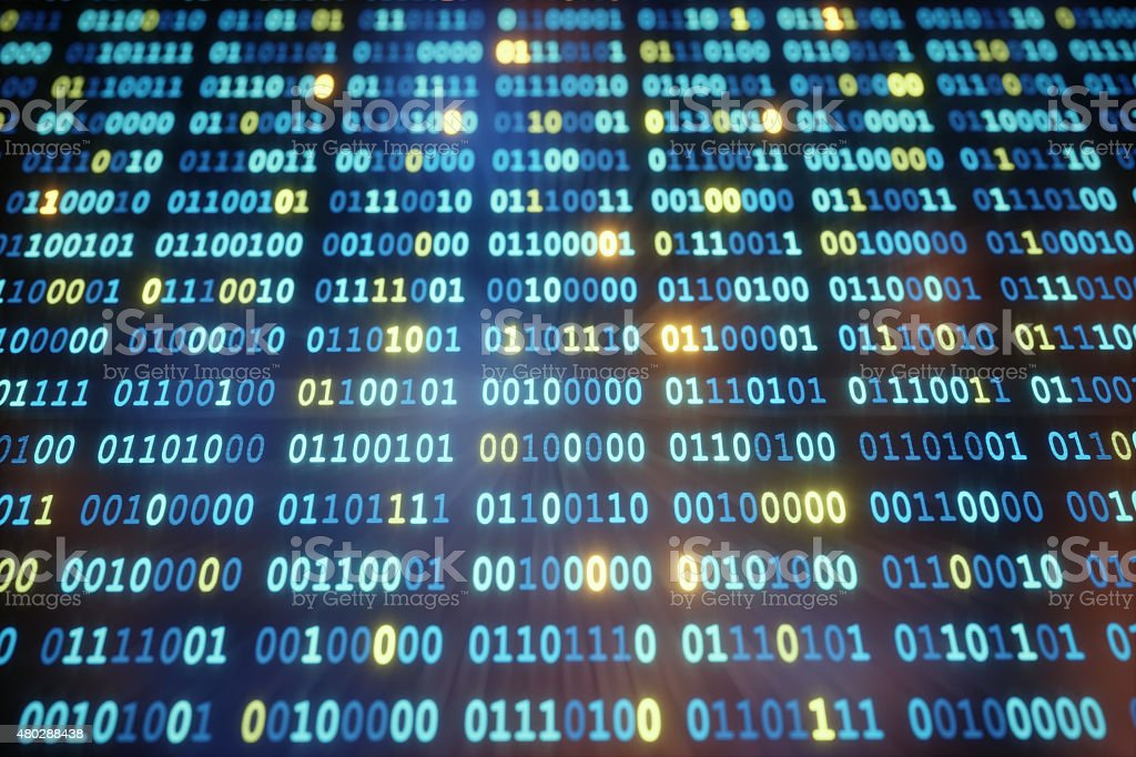 IT Background Binary Code A04 stock photo